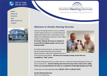 Link to Gordon Hearing Services Website, Courtenay, Vomox Valley