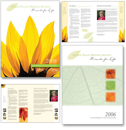 Comox Valley hospice Society annual report design
