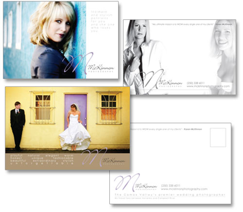 McKinnon Photography postcard designs
