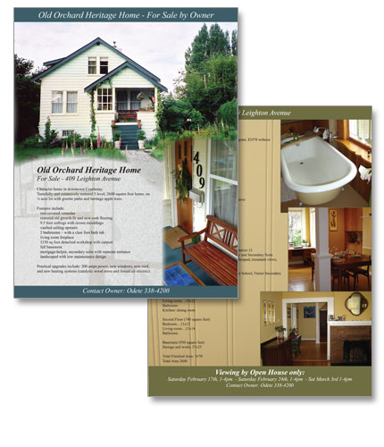 House for sale flyer design image