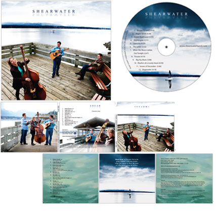 Shearwater CD Cover and Packaging design, Vancouver, BC