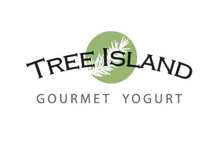 Tree Island Gourmet Yogurt Logo and branding design